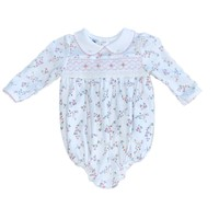 Magnolia Baby Grace's Classics Smocked Printed Collared Longsleeve Bubble PK