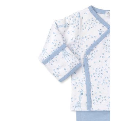 Kissy Kissy Light Blue Speckled Giraffe Pant Set