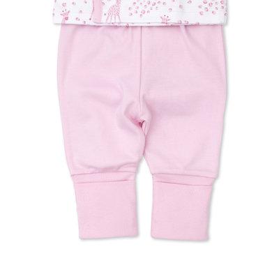 Kissy Kissy Pink Speckled Giraffe Pant Set