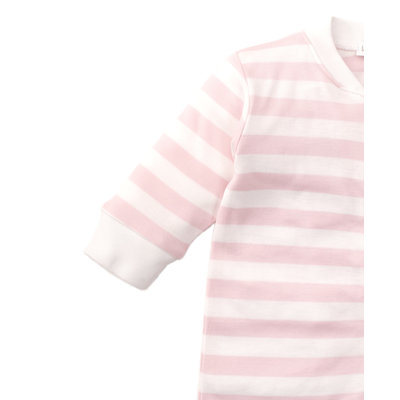 Kissy Kissy Pink Striped Footie