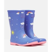 Joules Blue Cloud Printed Welly