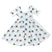 Along Came A Spider Organic Cotton Twirl Dress