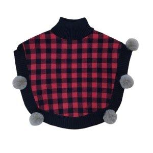 Cartwheels Plaid Knitted Poncho