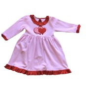 Magnolia Baby Love Applique Long Sleeve Toddler Dress
