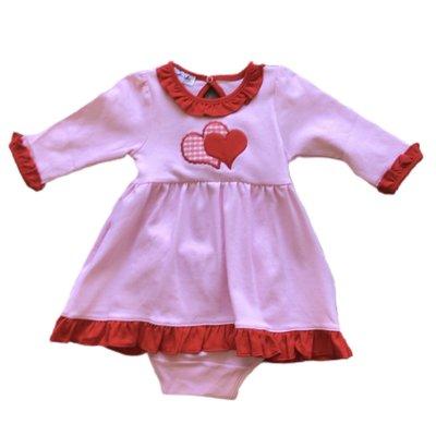 Magnolia Baby Love Applique Long Sleeve Dress Set