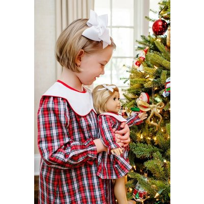 Beaufort Bonnet Company Sea Pines Plaid Richmond Red Long Sleeve Frenchy Frock