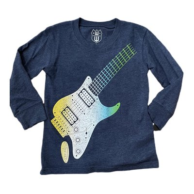 Wes and Willy Ombre Guitar Midnight Tee