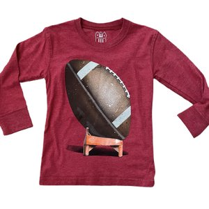 Wes and Willy Football Bullseye Red Tee