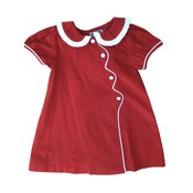 Honesty Clothing Company Red Corduroy Scallop Wave Dress