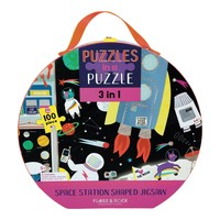 Floss and Rock Space 100PC 3 in 1 Puzzle in Case