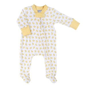 Magnolia Baby Tiny Duckling Printed Zipped Footie