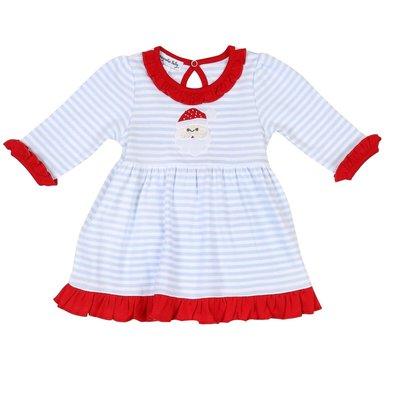 Magnolia Baby Santa Claus Long Sleeve Toddler Dress