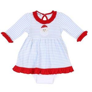Magnolia Baby Santa Clause Long Sleeve Dress Set