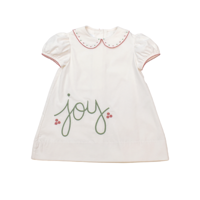 Lullaby Set Legacy White Cord Dress w/Bows of Holly