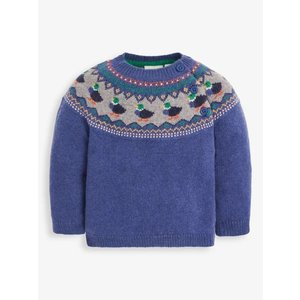 JoJo Maman Bebe Indigo Duck Fair Isle Sweater