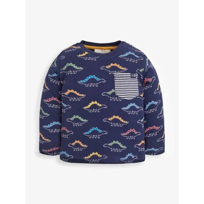 JoJo Maman Bebe Linear Dino Print Knit Pant Set