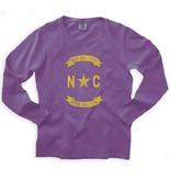 S.L. Revival Co. NC Gold Banner Shirt, Oversized, Port