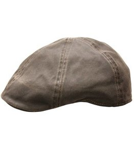 BC Hats Distressed Cotton Ivy Newsboy, Brown