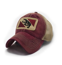 S.L. Revival Co. New Bern City Flag Trucker Hat, Brick Red