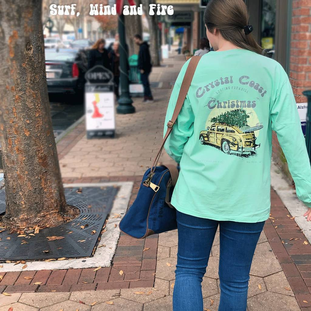 S.L. Revival Co. Crystal Coast Christmas, L/S, Chalky Mint
