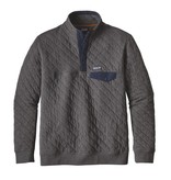 Patagonia Patagonia Men's Organic Cotton Quilt Snap-T Pullover, Forge Grey