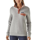 Patagonia Women's Organic Cotton Quilt Snap-T Pullover, Drifter Grey