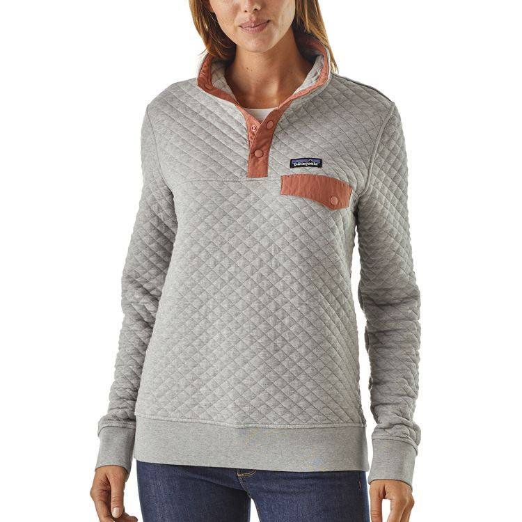 Patagonia Patagonia Women's Organic Cotton Quilt Snap-T Pullover, Drifter Grey