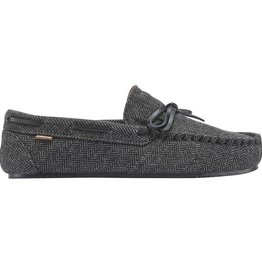 Lamo Men's Aiden Moc, Black Herringbone