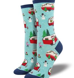 Socksmith W's Christmas Camper, Blue Heather