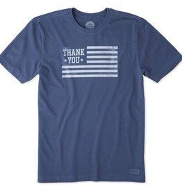 Life is Good Life Is Good Men's Crusher Tee Thank You Veterans, Darkest Blue