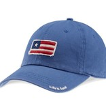 Life is Good A Tattered Chill Flag Cap, Vintage Blue