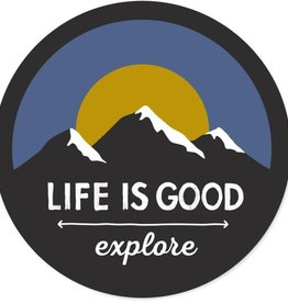 Life is Good Life Is Good Explore Mountains Sticker