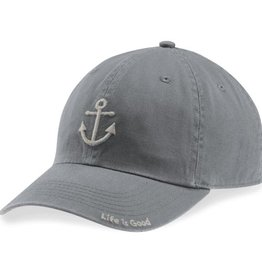 Life is Good A Chill Cap Anchor, Slate Gray