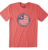 Life is Good Men's Crusher Tee, Positively American Coin