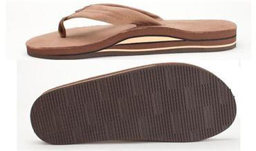 Rainbow Men's Sierra Brown Premier Leather Double Layer, Thick Strap