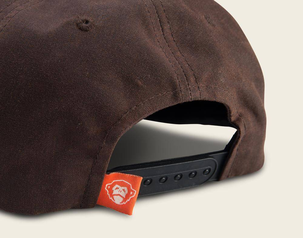 Howler Brothers Howler Oval Unstructured Snapback, Brown Waxed Canvas