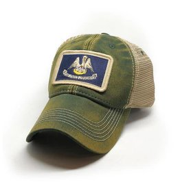 S.L. Revival Co. Louisiana Flag Patch Trucker Hat, Green