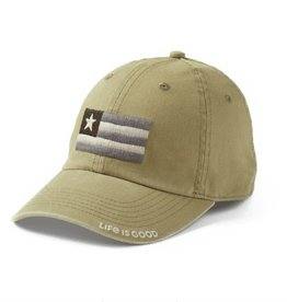 Life is Good Chill Cap Flag Patch, Fatique Green