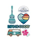Life is Good Six-Pack Stickers Beach Pack