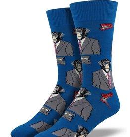 Socksmith Men's Monkey Biz, Blue