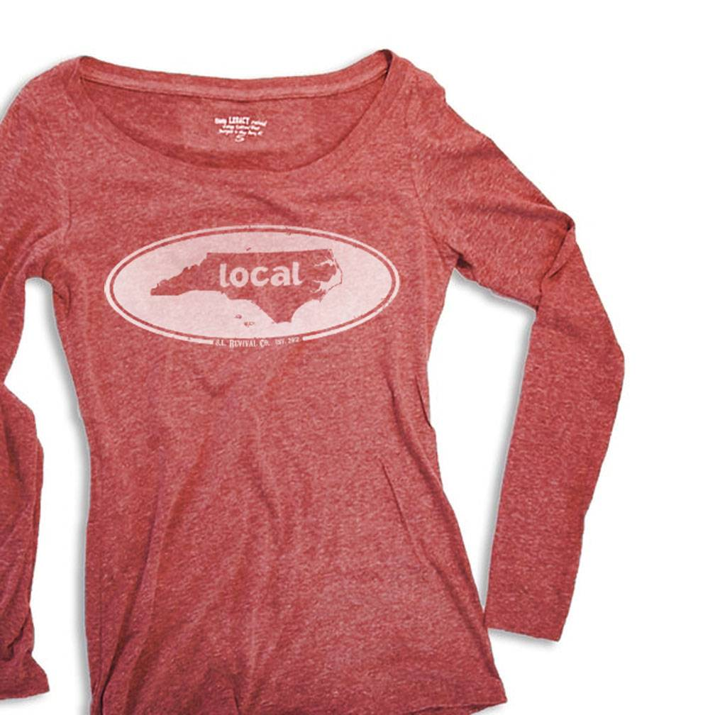 1bd88467f51a State Legacy Revival Women s Long Sleeve Vintage Local Oval