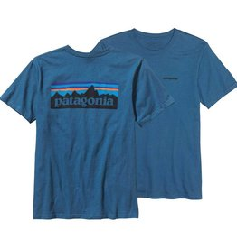 Patagonia Men's P-6 Logo Cotton T-Shirt, Glass Blue