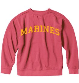 S.L. Revival Co. Marines Collegiate Sweatshirt, Red