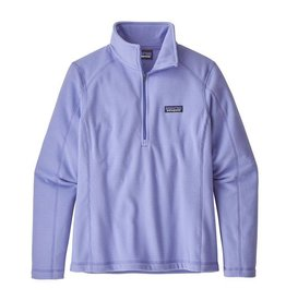 Patagonia Women's Micro D 1/4 Zip, Light Violet Blue
