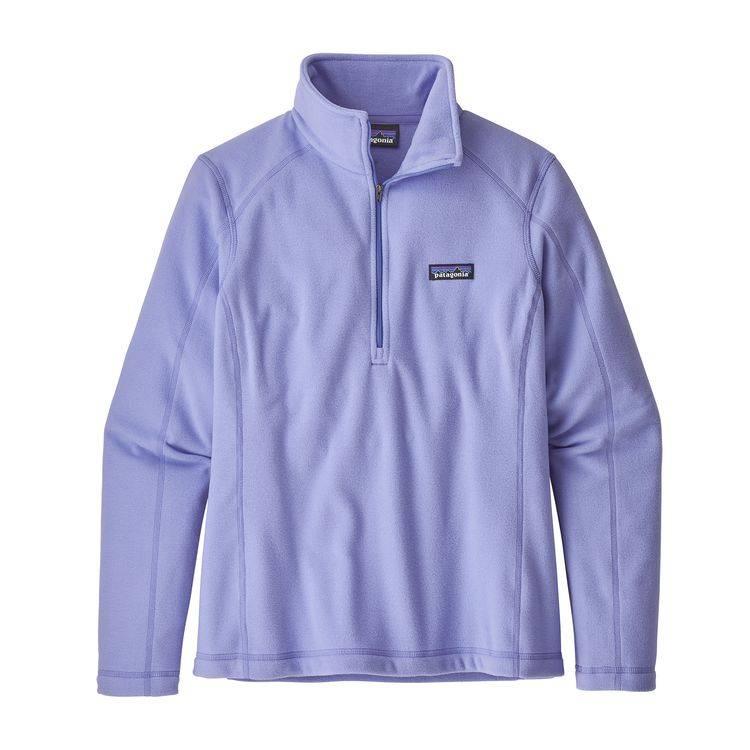 Patagonia Women's Micro D 1/4 Zip, Light Violet Blue
