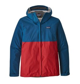 Patagonia Men's Torrentshell Jacket, Big Sur Blue w/Fire Red