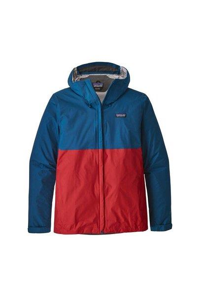 Men's Torrentshell Jacket, Big Sur Blue w/Fire Red