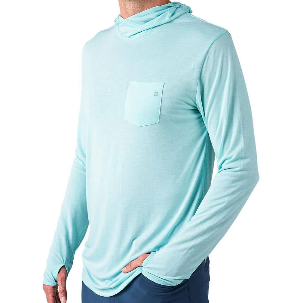 Free Fly M's Bamboo LW Hoody, Blue Chill