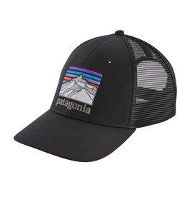 Patagonia Line Logo Ridge LoPro Trucker Hat, Black