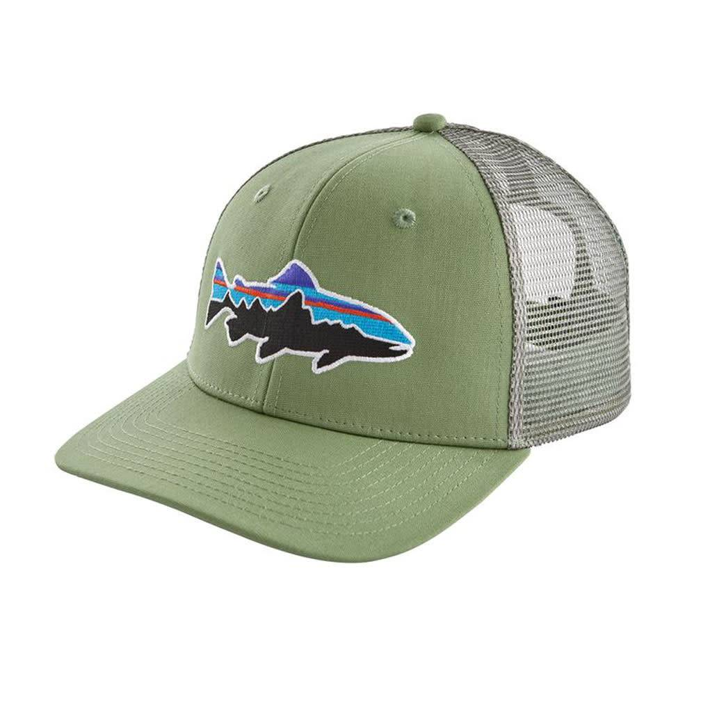 Patagonia Fitz Roy Trout Trucker Hat, Matcha Green